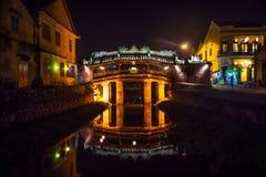 Old japanese bridge at night in Hoi An. Vietnam Stock Image
