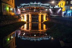 Old japanese bridge at night in Hoi An Royalty Free Stock Image