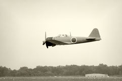 Old Japanese fighter Stock Photo