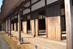 Old Japanese house. Side shot of an old Japanese style house Royalty Free Stock Photo