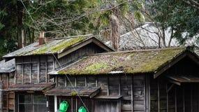 Old Japanese house at Kazusanaka Station Stock Photo