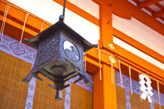 Old Japanese metal lantern Royalty Free Stock Images