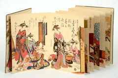 Old japanese paintings Royalty Free Stock Image