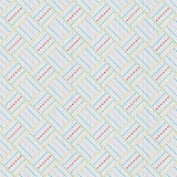 Old japanese quilting. Sashiko. Seamless pattern. Stock Photos