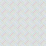 Old japanese quilting. Sashiko. Seamless pattern. Stock Photos