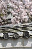 Old japanese roof clay tiles Royalty Free Stock Photos