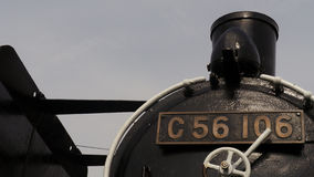 Old Japanese steam locomotive. It is located in the park as a memorial locomotive Stock Photography