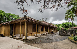 Old Japanese style house with gray cloud. In Okinawa Royalty Free Stock Photos