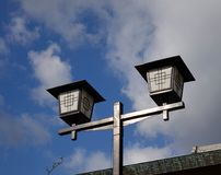 Old Japanese-style lamp post royalty free stock images