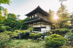 Old japanese temple in Kyoto,artistic interpretation Stock Photos