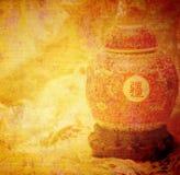 Old japanese vase Stock Photos