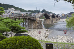 Old Japanese wooden bridge Royalty Free Stock Photo
