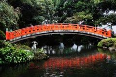 Old Japanese wooden bridge Stock Photos