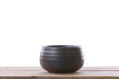 Old jar earthenware of japanese style (japanese sake bottle) on Stock Photography