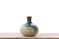 Old jar earthenware of japanese style (japanese sake bottle) on Stock Image