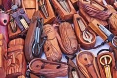Old jaw harps, khomuses. Folk musical instruments. Stock Images