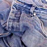 Old jeans. Focus on the wave Royalty Free Stock Images
