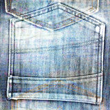 Old jeans background with hole in style scrapbook Royalty Free Stock Photo