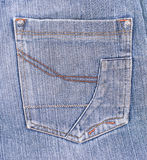 Old jeans pocket Royalty Free Stock Image