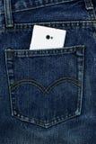 Old jeans Put your back pocket. Jeans back pocket Your range Royalty Free Stock Image