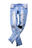 Old jeans trousers Stock Photo