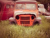 Old jeep. An old jeep in an auto graveyard royalty free stock images