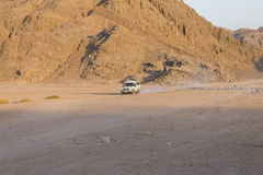 Old jeep in a desert in Hurghada Stock Images