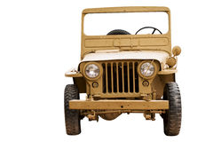 Old jeep Willis isolated Royalty Free Stock Image