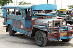 old jeepney bus angeles sapangbato philippines Stock Photography