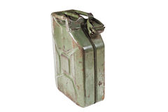 Old jerrycan isolated on  white background Royalty Free Stock Image
