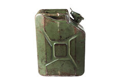 Old jerrycan isolated on  white background Royalty Free Stock Photography
