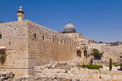 Old Jerusalem. The old city of Jerusalem in Israel Stock Photo
