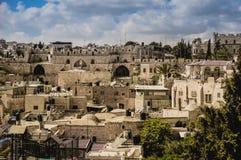 Old Jerusalem city view Royalty Free Stock Photos