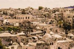 Old Jerusalem city view Stock Photos