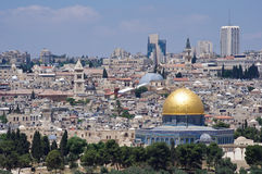 Old Jerusalem cityscape Royalty Free Stock Photos