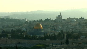 Old Jerusalem stock footage