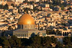 Old Jerusalem, Israel - Dome of the Rock Royalty Free Stock Photography