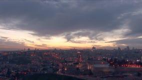 Old Jerusalem at night stock footage