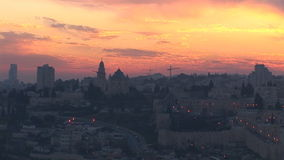 Old Jerusalem at night stock video footage