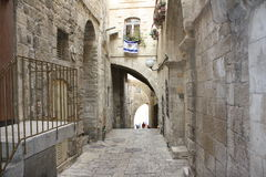 Old Jerusalem street. Next to the Western Wall Stock Images