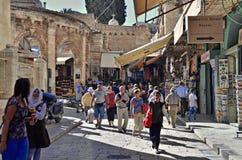 Old Jerusalem. A street in the old city of Jerusalem Stock Images