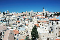 Old Jerusalem view from Redeemer 's church Royalty Free Stock Photography