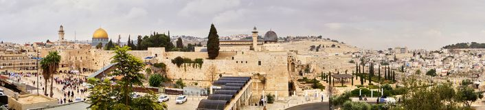 Old Jerusalem, The Wall of Tears Stock Images