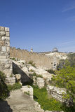Old Jerusalem Walls and Al Aqsa Mosque ,Jerusalem, Stock Photo