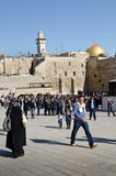 Old Jerusalem - Western wall and mosque dome royalty free stock photos