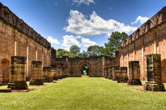 Old Jesuit ruins in Encarnacion. Paraguay Royalty Free Stock Photos