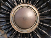 Old Jet Engine. Vintage jet engine turbine.  Detail of rotor and blades Royalty Free Stock Photography