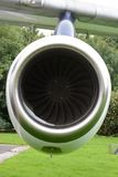 Old jet engine. A old disused jet engine on show Stock Photo
