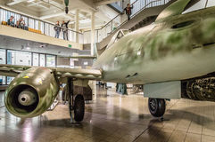 Old jet fighter in museum Stock Image