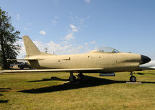 Old jetfighter. US Air Force jet from the Korean War Stock Images